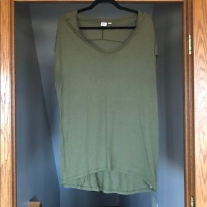 Sleeveless Olive Green Top